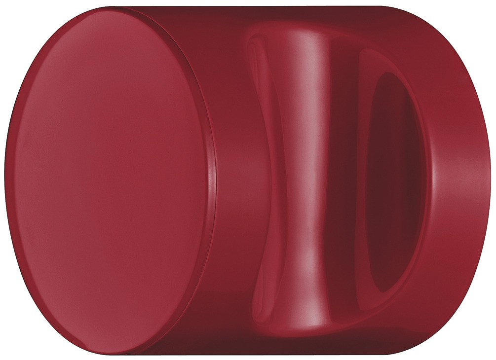 Image of   Knopgreb, rund med fordybning, rubinrød, polyamid