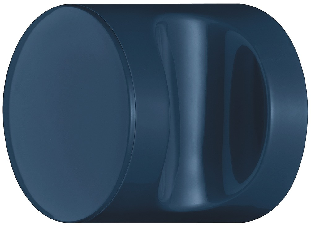 Image of   Knopgreb, rund med fordybning, stålblå, polyamid