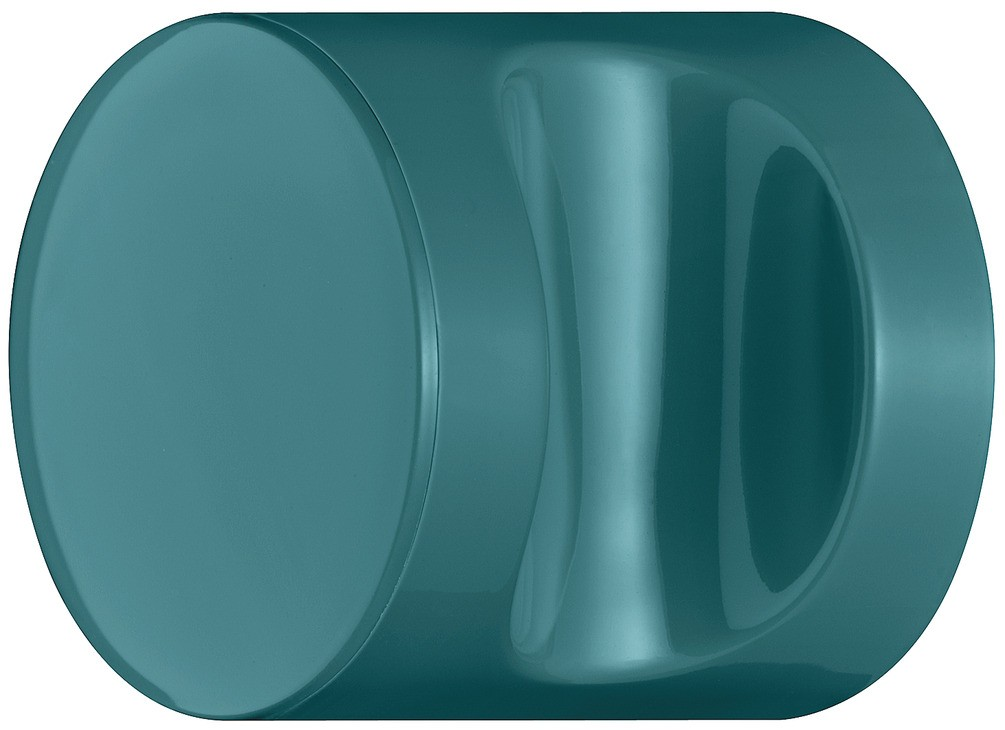 Image of   Knopgreb, rund med fordybning, vandblå, polyamid