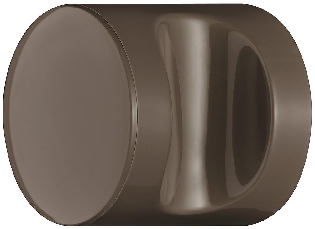 Image of   Knopgreb, rund med fordybning, umbra, polyamid