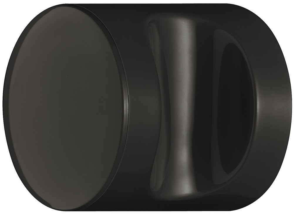 Image of   Knopgreb, rund med fordybning, dybsort, polyamid
