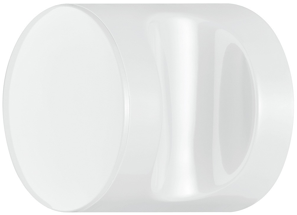 Image of   Knopgreb, rund med fordybning, signalhvid, polyamid