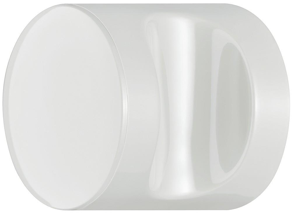 Image of   Knopgreb, rund med fordybning, ren hvid, polyamid