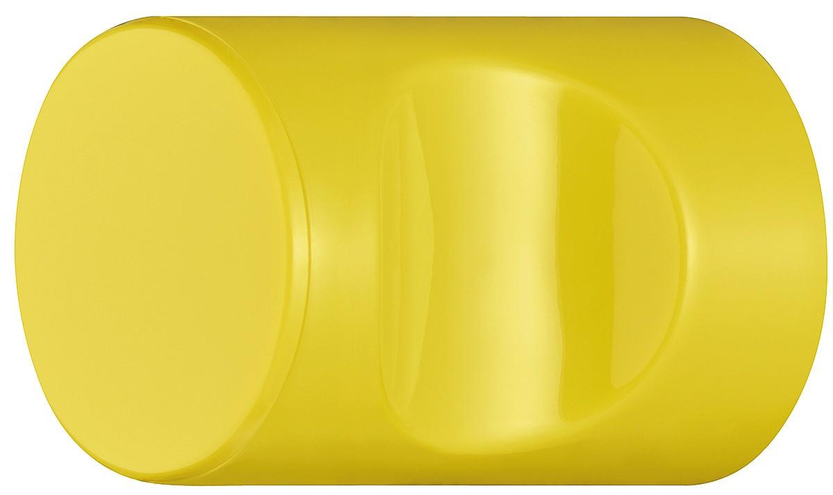 Image of   Cylindrisk knopgreb med fordybning, sennepsgul, polyamid