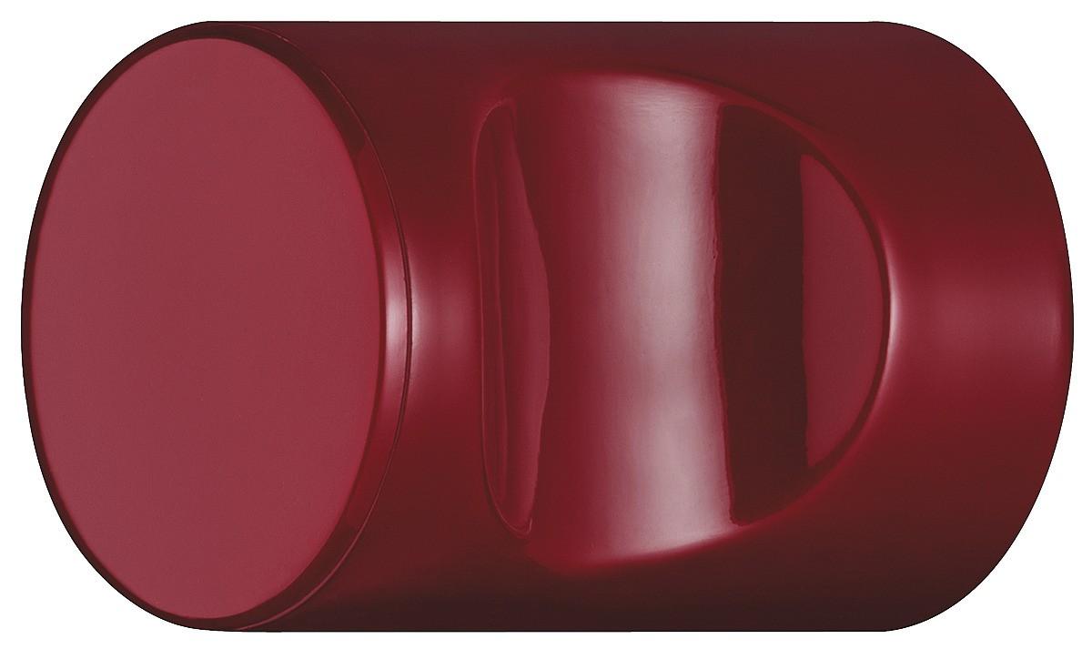 Image of   Cylindrisk knopgreb med fordybning, rubinrød, polyamid