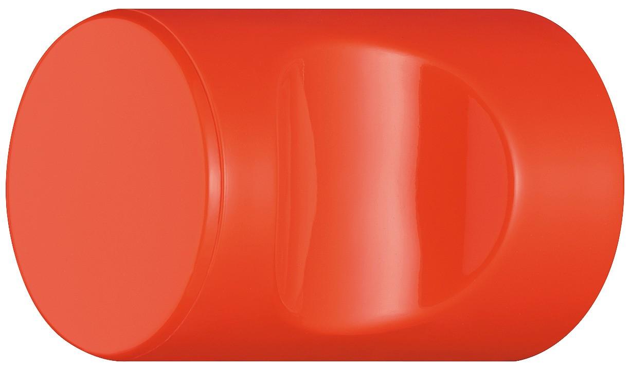 Image of   Cylindrisk knopgreb med fordybning, koral, polyamid
