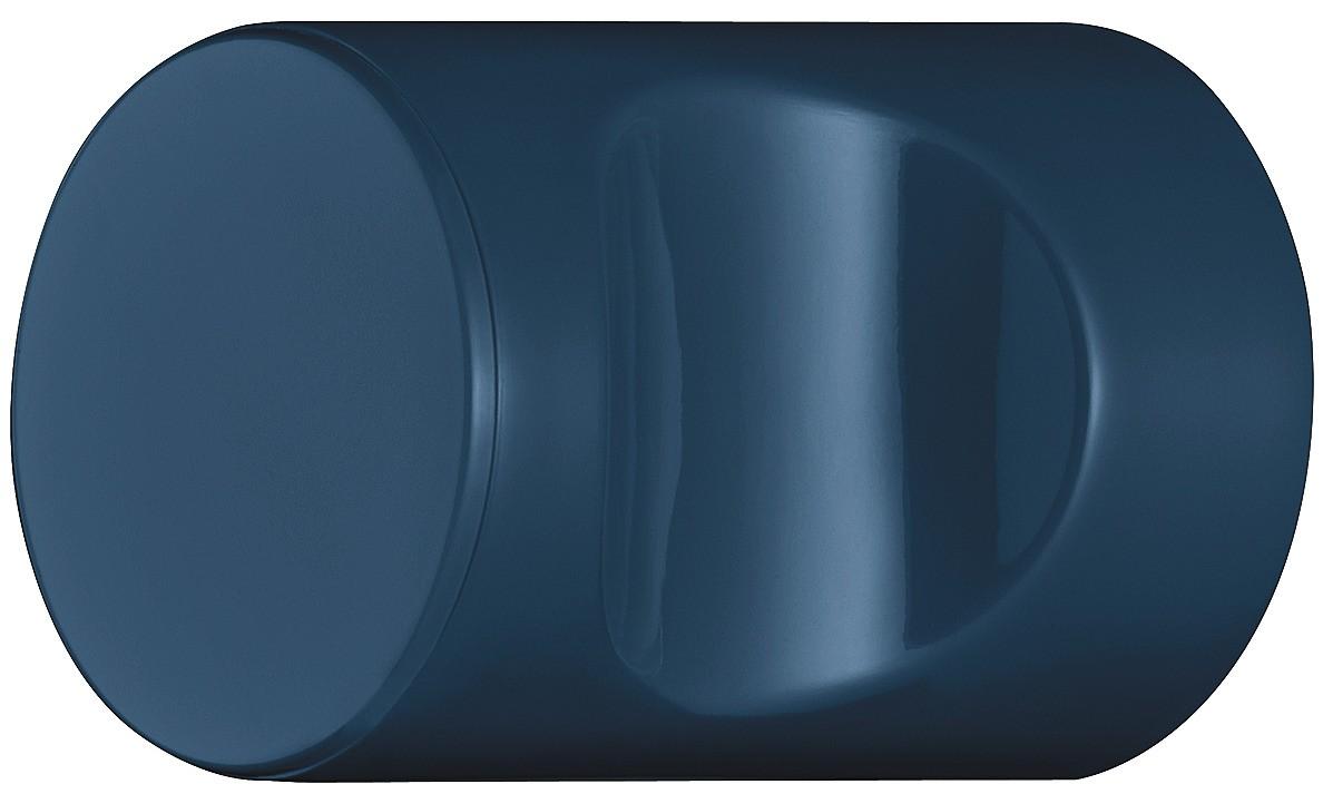 Image of   Cylindrisk knopgreb med fordybning, stålblå, polyamid