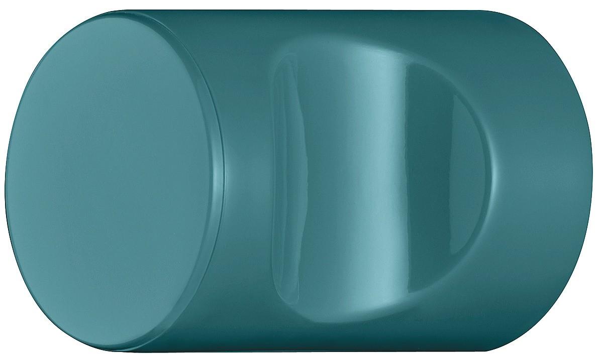 Image of   Cylindrisk knopgreb med fordybning, vandblå, polyamid