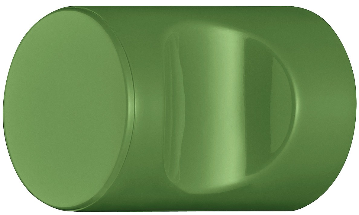 Image of   Cylindrisk knopgreb med fordybning, majgrøn, polyamid