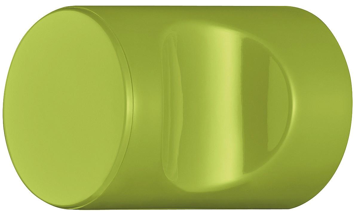 Image of   Cylindrisk knopgreb med fordybning, æblegrøn, polyamid