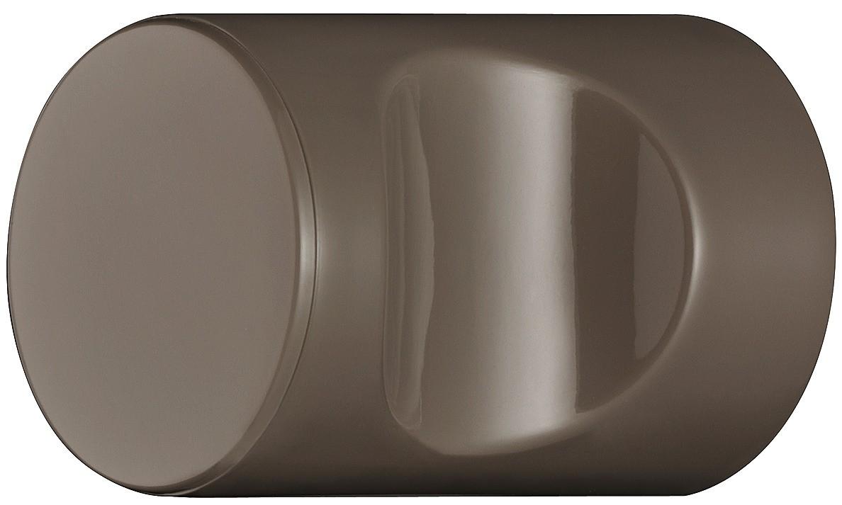 Image of   Cylindrisk knopgreb med fordybning, umbra, polyamid