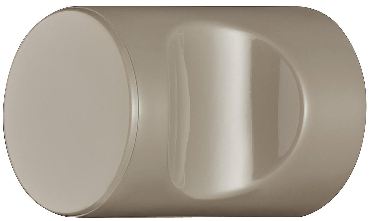Image of   Cylindrisk knopgreb med fordybning, sandfarvet, polyamid