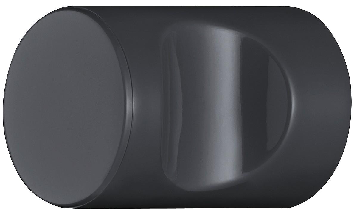 Billede af Cylindrisk knopgreb med fordybning, antracitgrå, polyamid