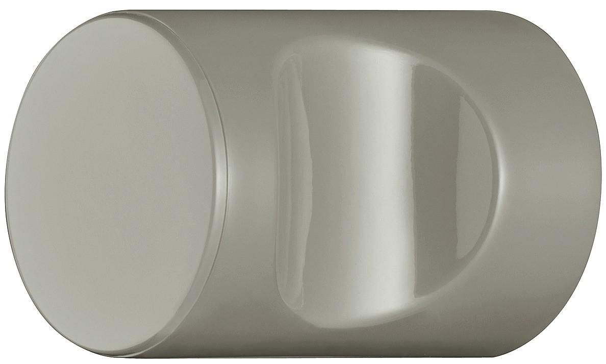 Image of   Cylindrisk knopgreb med fordybning, klippegrå, polyamid
