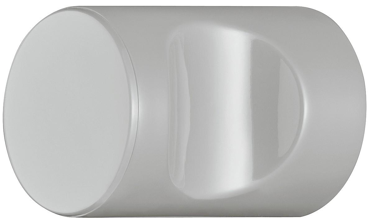 Image of   Cylindrisk knopgreb med fordybning, lysegrå, polyamid