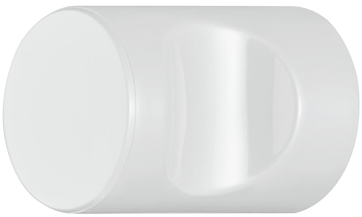 Image of   Cylindrisk knopgreb med fordybning, signalhvid, polyamid