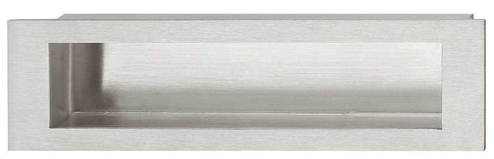 Image of   Rektangulær skålegreb, rustfrit stål, mat børstet