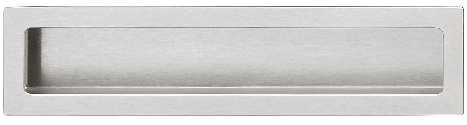 Image of   Mat og børstet rektangulær skålegreb i rustfrit stål, 100-210 mm