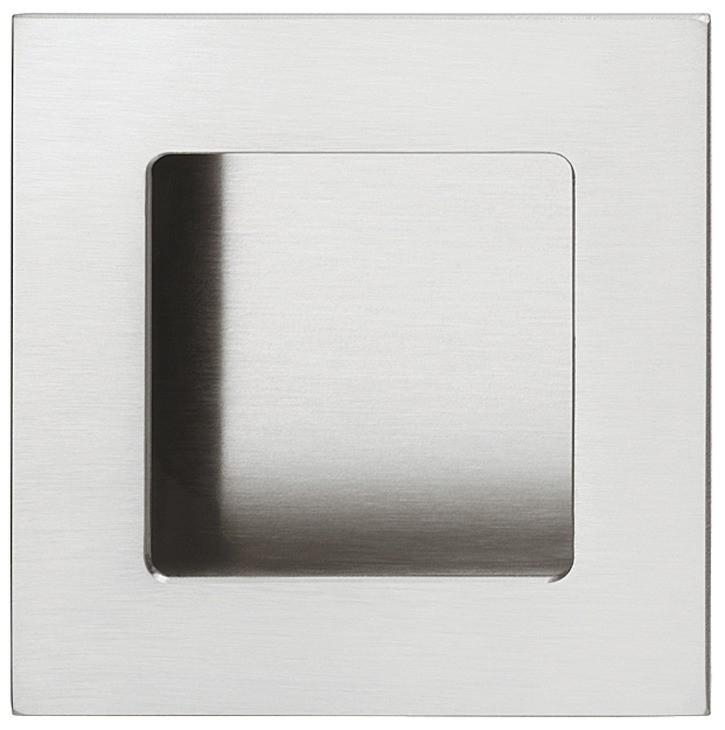 Image of   Firkantet skålegreb i rustfrit stål, mat børstet