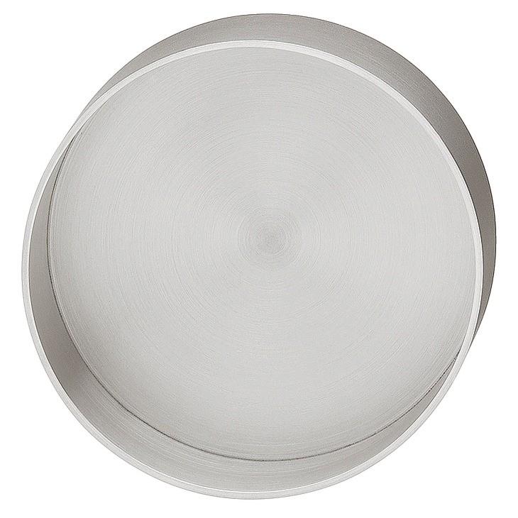 Image of   Enkelt og rund skålegreb i rustfrit stål, mat børstet