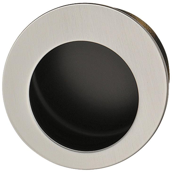 Image of   Rund skålegreb i rustfrit stål, udvendigt mat børstet, indvendigt sort