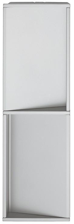 Image of   Rektangulær aluminium skålegreb til skydedøre, sølvfarvet