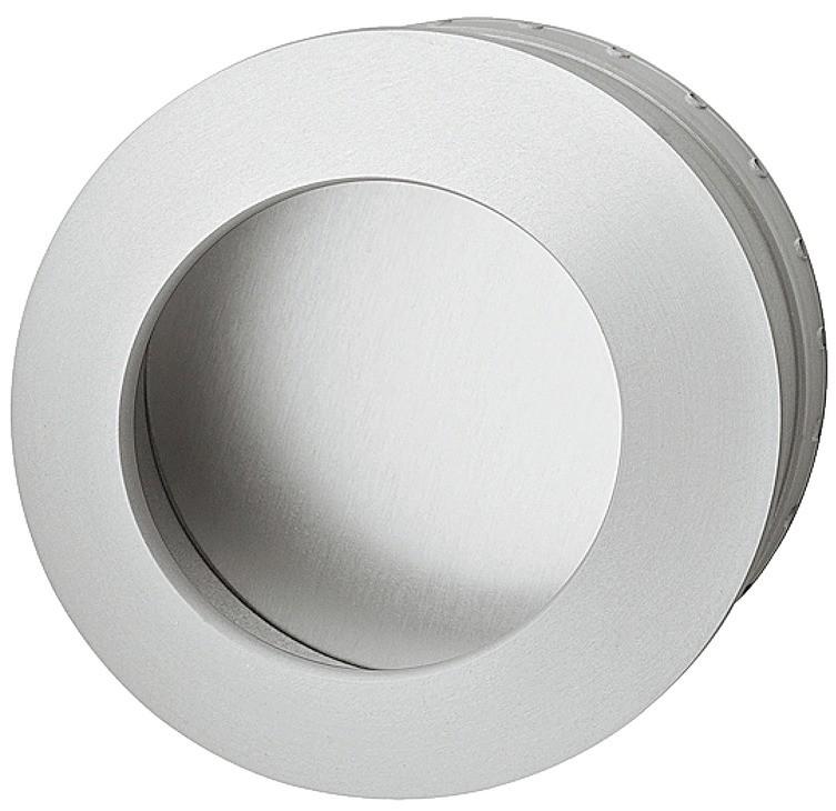 Image of   Rund skålegreb, stålfarvet og aluminium
