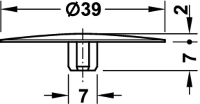 Image of   Dækkappe, Hvid til maxifix 19 - 100 stk
