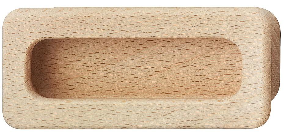 Image of   Skålegreb i naturlig bøg med afrundede kanter