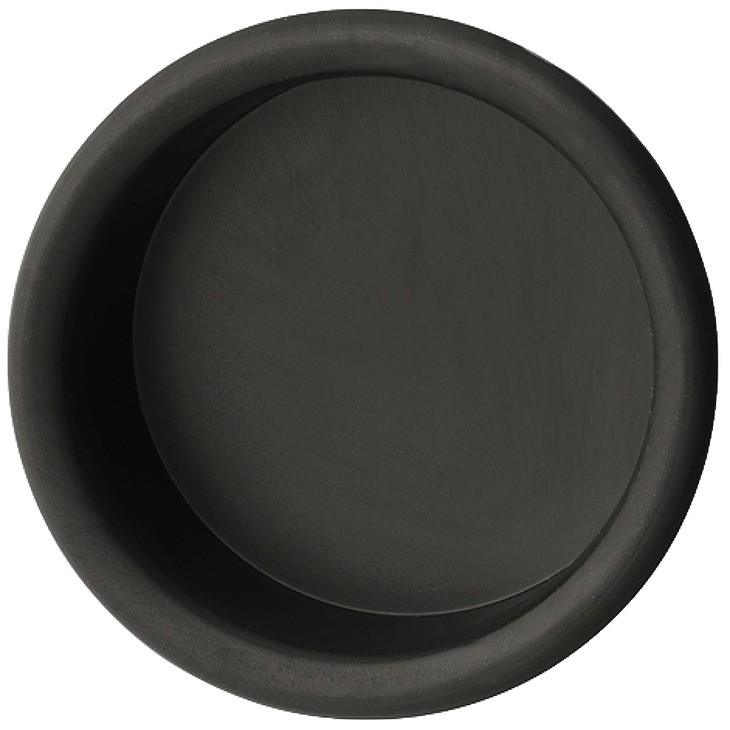 Image of   Cirkelformet skålegreb i sort kunststof