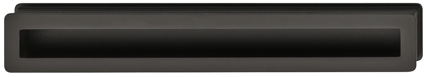 Image of   Aflang og smal skålegreb i sort mat zinklegering