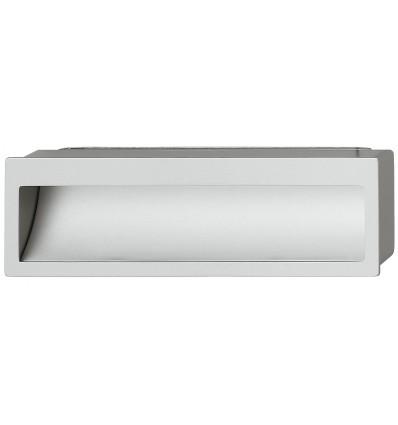 Rektangulær aluminiumfarvet skålegreb i zinklegering