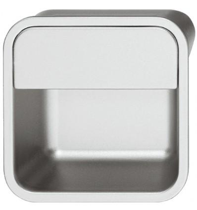 Firkantet aluminiumfarvet skålegreb i zinklegering