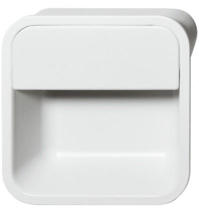 Firkantet skålegreb i mat hvid zinklegering
