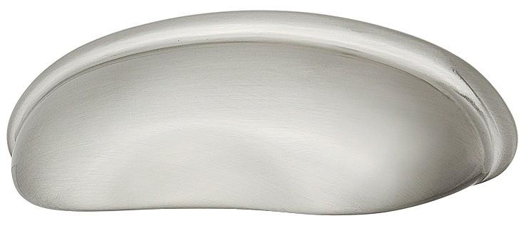 Image of   Buede skålegreb i forniklet mat zinklegering
