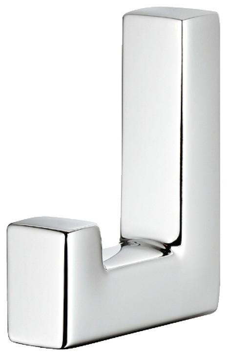 Image of   Simpel og enkel garderobekrog i forkromet poleret zinklegering