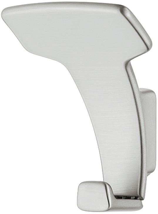 Image of   Garderobekrog halvbue formet i stålfarvet zinklegering