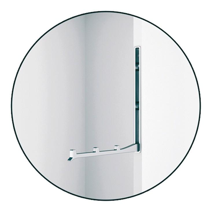 Image of   Foldbar garderobekrog i forkromet poleret zinklegering, 177 mm