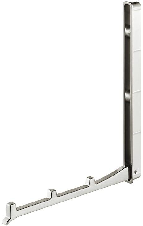 Image of   Foldbar garderobekrog i stålfarvet zinklegering, 177 mm