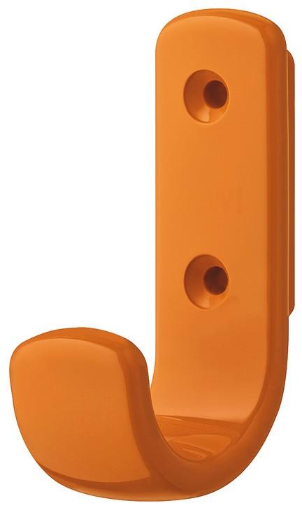 Image of   Lille frakkekrog i orange kunststof, 1 krog
