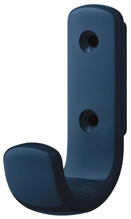 Image of   Lille frakkekrog i stålblå kunststof, 1 krog