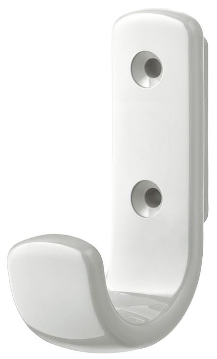 Image of   Lille frakkekrog i ren hvid kunststof, 1 krog