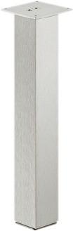 Billede af Sofabordsben, firkantet, aluminium rustfri look, Højde: 400mm