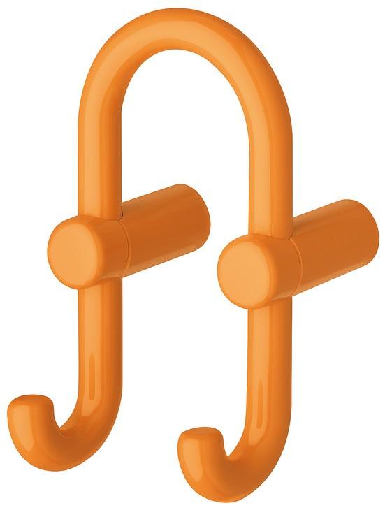 Image of   U-formet garderobekrog med 2 kroge i orange kunststof