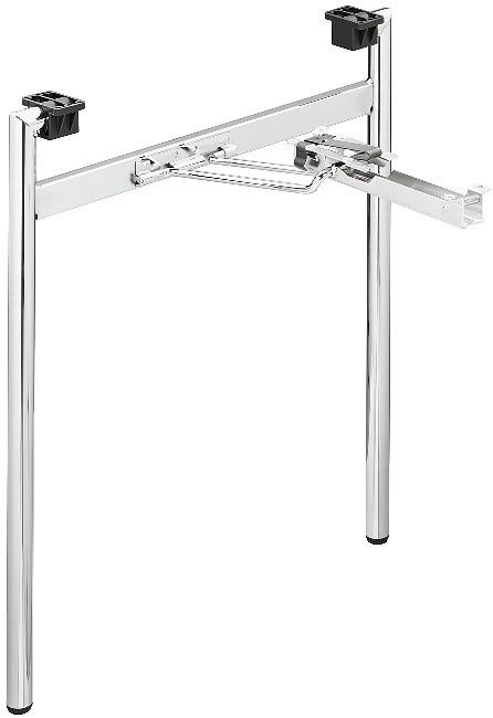 Image of   Folestel til bord, H-ramme, krom poleret stål - 1 SÆT