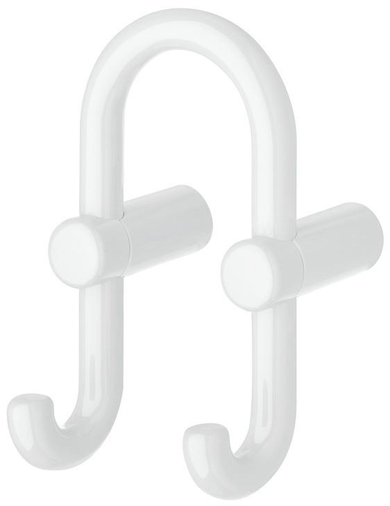 Image of   U-formet garderobekrog med 2 kroge i signal hvid kunststof