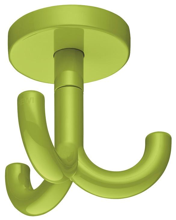 Image of   Drejelig loftkrog med 3 kroge i æblegrøn kunststof