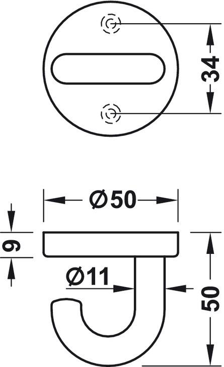Image of   Loftkrog i stålblå kunststof