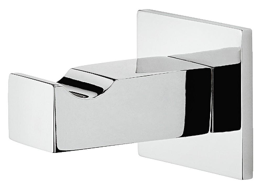 Image of   Kantet og enkel garderobekrog i forkromet poleret messing