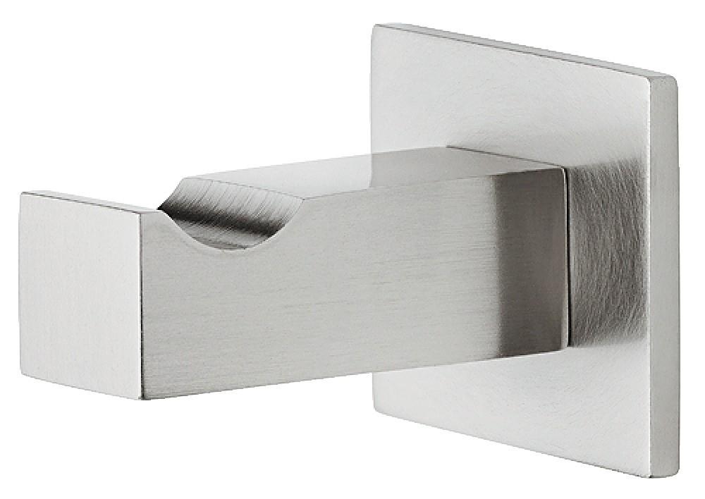 Image of   Kantet og enkel garderobekrog i stålfarvet messing